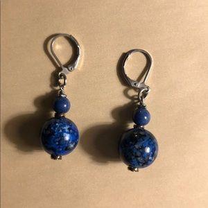 Beautiful Blue Beaded Earrings